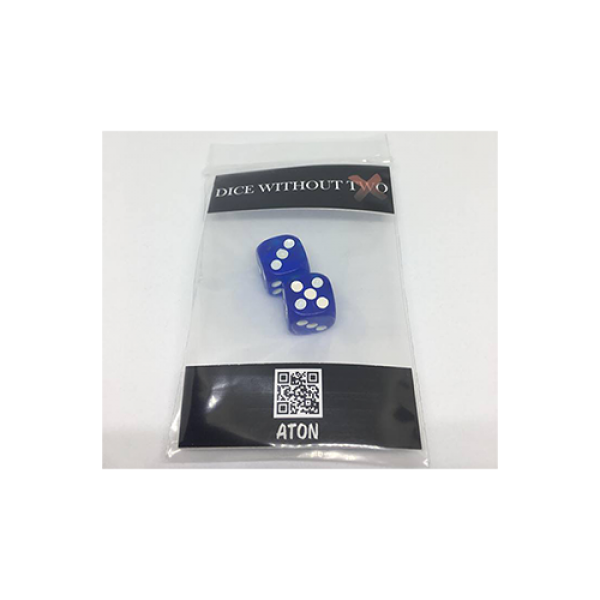 Dice Without Two CLEAR BLUE (2 Dice Set)