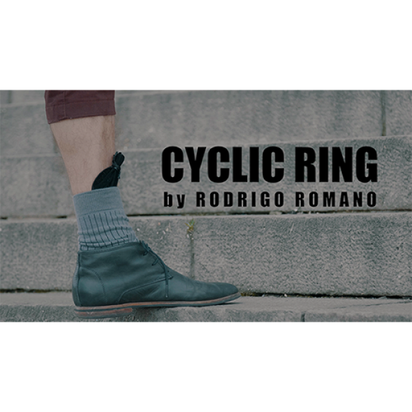CYCLIC RING (Black Gimmick and Online Instructions) by Rodrigo Romano