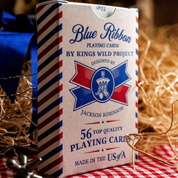 Blue Ribbon Playing Cards by Kings Wild Project In...