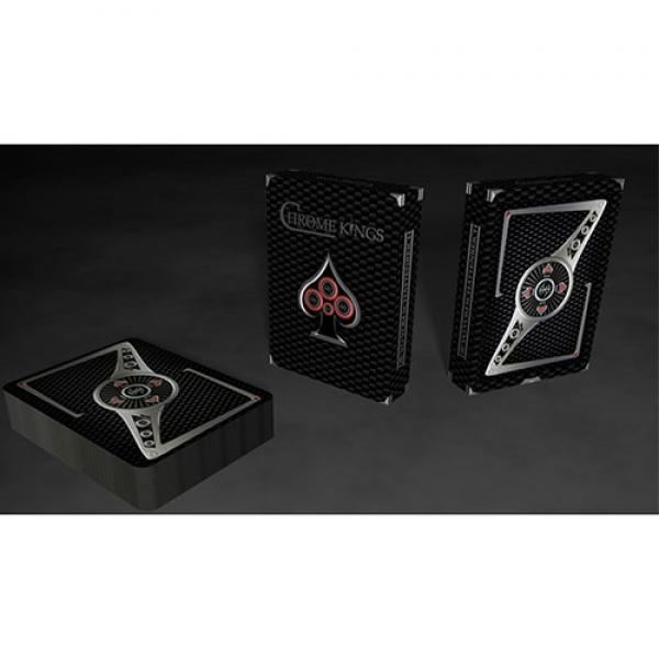 Chrome Kings Carbon Playing Cards (Standard) by De...