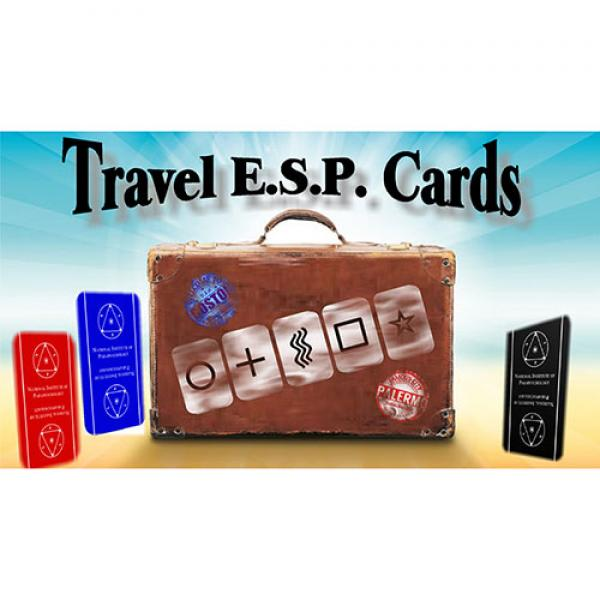 Travel ESP Cards Blue & Red (Gimmicks and Onli...