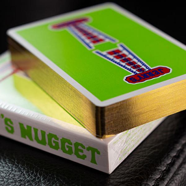 Gilded Vintage Feel Jerry's Nuggets (Green) Playing Cards