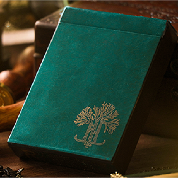 Green Philtre V3 Playing Cards by Riffle Shuffle