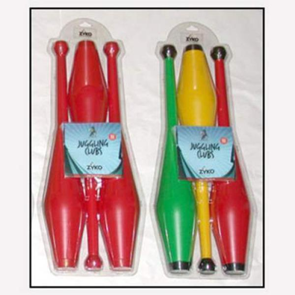 Juggling Set (3 Undecorated Clubs and DVD) - Assor...