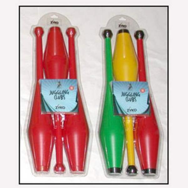 Juggling Set (3 Undecorated Clubs and DVD) - Yello...