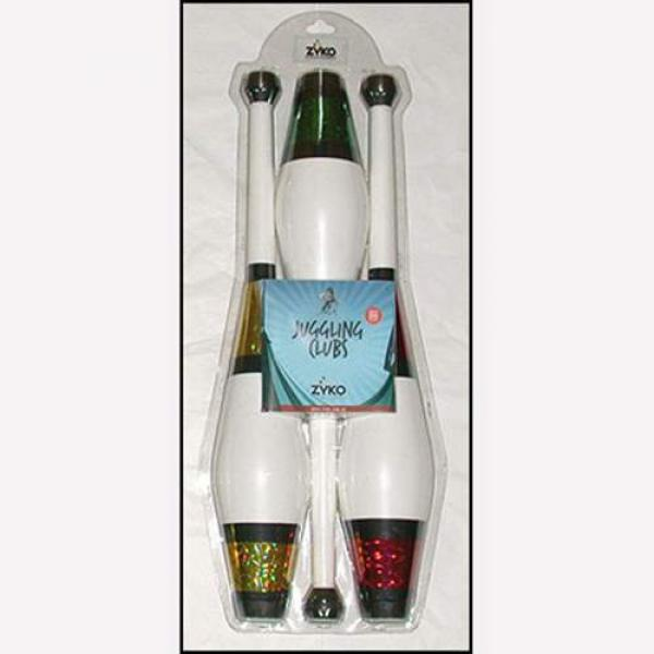 Juggling Set (3 Decorated Clubs and DVD) - Assorte...