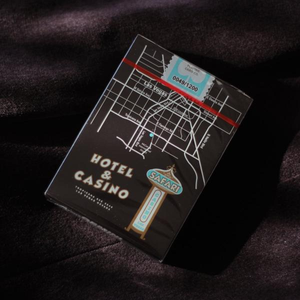 Safari Casino Black Playing Cards by Gemini