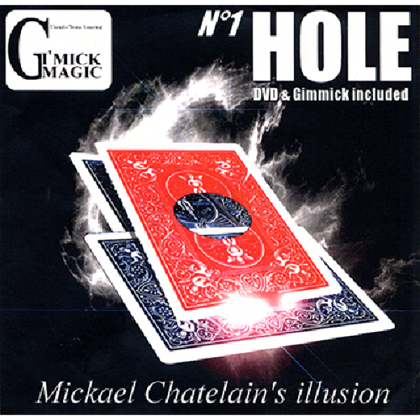 Hole (RED)(DVD and Gimmick) by Mickael Chatelain -...