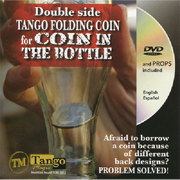 Double Side Folding 50 Cent Euro (Internal System DVD w/Gimmick) (E0084) by Tango