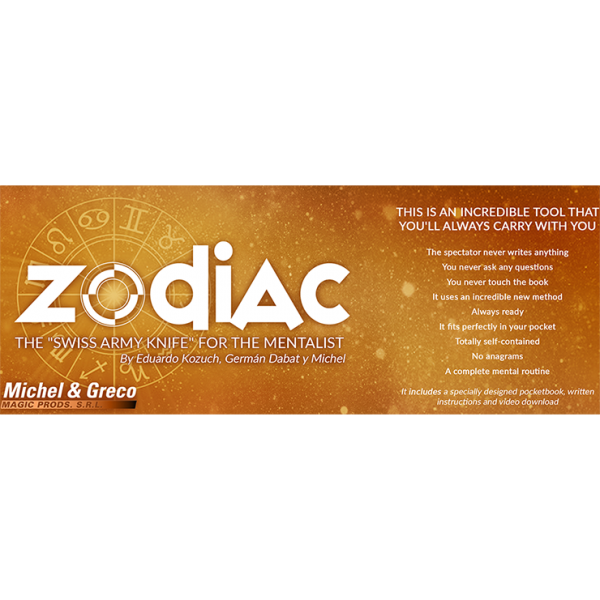 The Zodiac Spanish Version (Gimmicks and Online Instructions) by Vernet