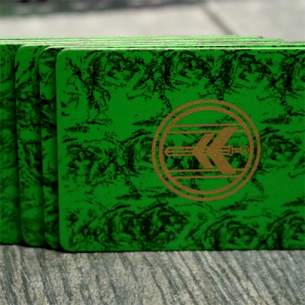 FIBER BOARDS Cardistry Trainers (Emerald Green) by Magic Encarta