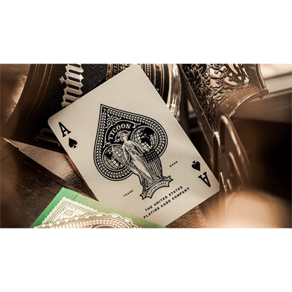 Mazzo di carte Limited Edition Green Tycoon Playing Cards by theory11