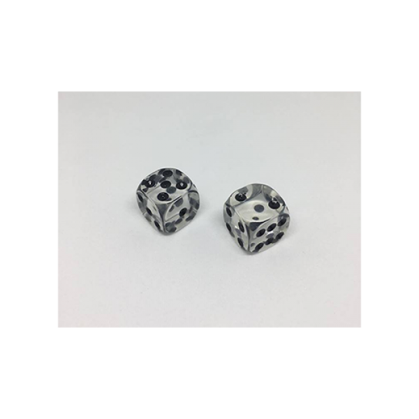 Dice Without Two CLEAR CRYSTAL (2 Dice Set)