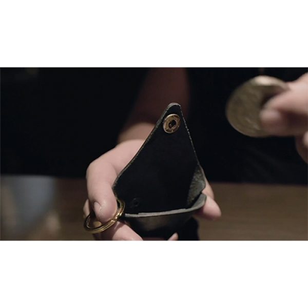 SansMinds Worker's Collection: Coin Pouch Midnight Black (Half Dollar Size)