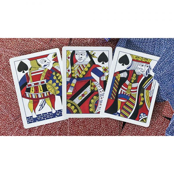 Limited Late 19th Century Square Faro Gilded (Blue) Playing Cards