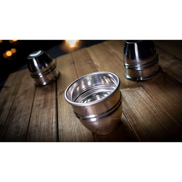 CUPS and BALLS Aluminum (Gimmicks and Instructions) by Murphy's Magic