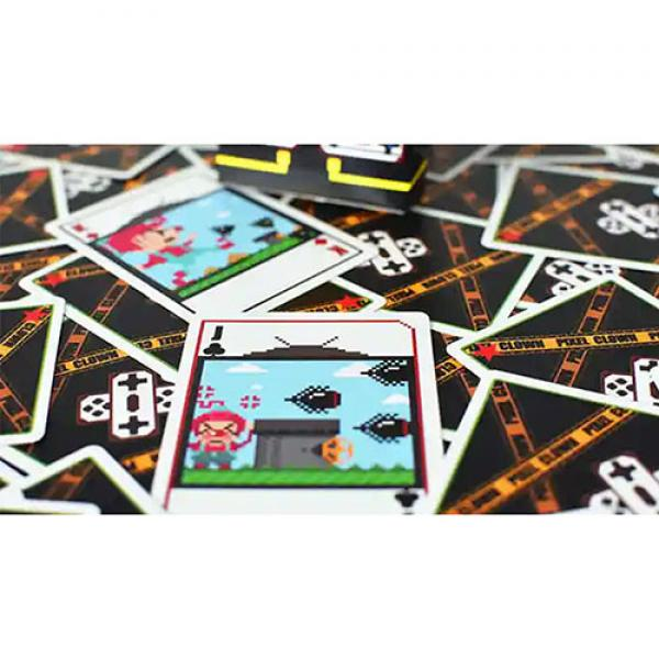 Pixel Clown Playing Cards