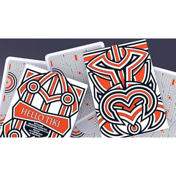 Hello Tiki (White) Playing Cards