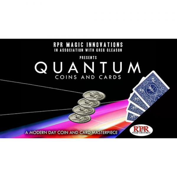 Quantum Coins (US Quarter Blue Card) Gimmicks and Online Instructions by Greg Gleason and RPR Magic Innovations
